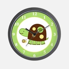 Laguna Turtle Green Border Wall Clock