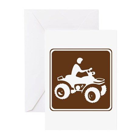 All Terrain Vehicle Sign Greeting Cards (Pk of 10)