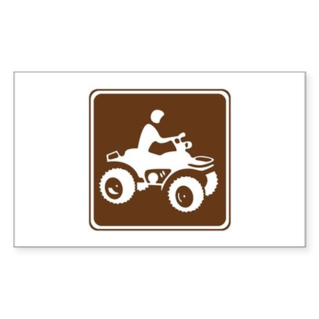 All Terrain Vehicle Sign Sticker (Rectangle)