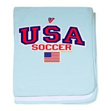 USA American Soccer baby blanket