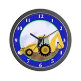 Backhoe Wall Clocks