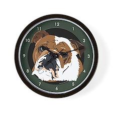 Old English Bulldog Wall Clock