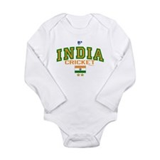 IN India Indian Cricket Long Sleeve Infant Bodysui