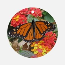 Monarch Butterfly Photography Ornament (Round)