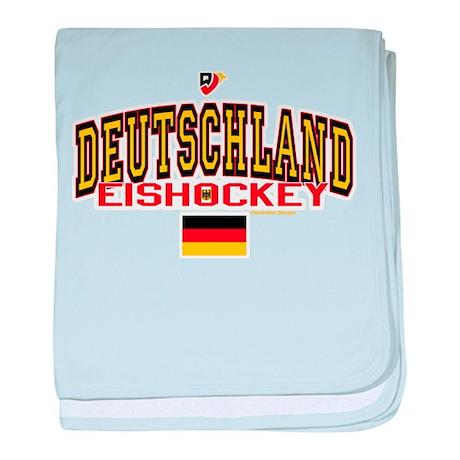 DE Germany Hockey Deutschland baby blanket