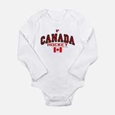 CA(CAN) Canada Hockey Long Sleeve Infant Bodysuit