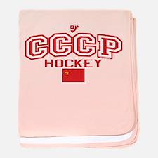 CCCP Soviet Hockey S baby blanket