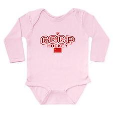 CCCP Soviet Hockey S Long Sleeve Infant Bodysuit
