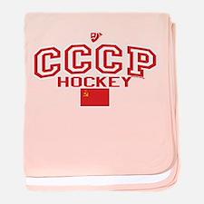 CCCP Soviet Hockey C baby blanket