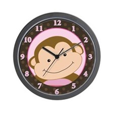 Papagayo Monkey Girl Wall Clock