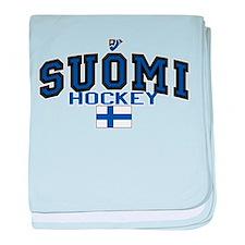 Finland(Suomi) Hockey baby blanket