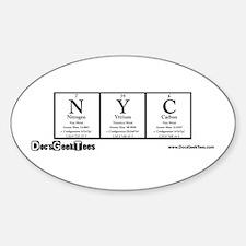 NYC Transparent Decal
