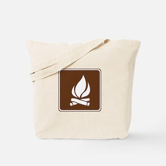 Campfire Sign Tote Bag