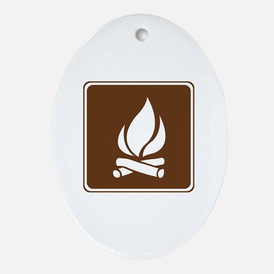 Campfire Sign Ornament (Oval)
