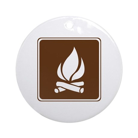 Campfire Sign Ornament (Round)