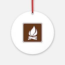 Campfire Sign Ornament (Round)