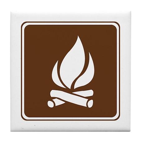 Campfire Sign Tile Coaster