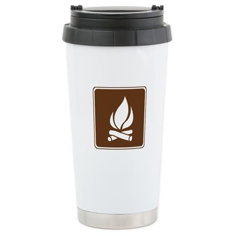Campfire Sign Stainless Steel Travel Mug