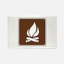 Campfire Sign Rectangle Magnet (10 pack)