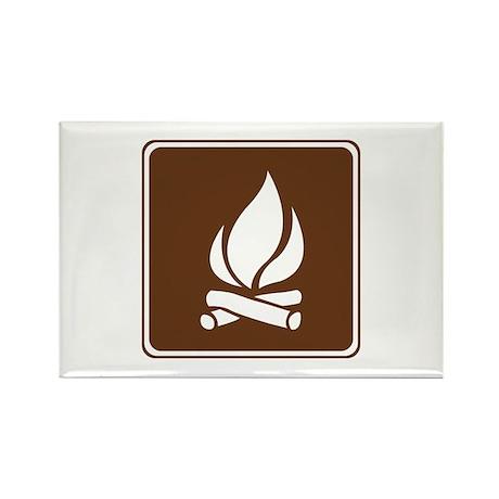 Campfire Sign Rectangle Magnet (100 pack)