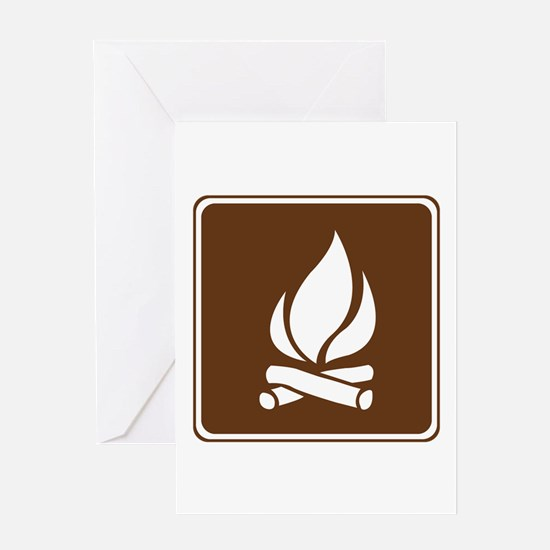 Campfire Sign Greeting Card