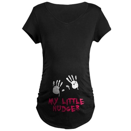 Lil Nudger Maternity Dark T-Shirt
