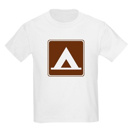 Camping Tent Sign Kids Light T-Shirt