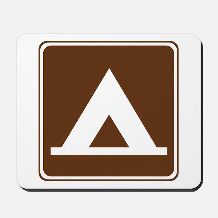 Camping Tent Sign Mousepad