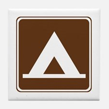 Camping Tent Sign Tile Coaster