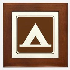 Camping Tent Sign Framed Tile