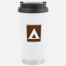 Camping Tent Sign Stainless Steel Travel Mug