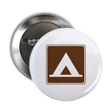 """Camping Tent Sign 2.25"""" Button"""
