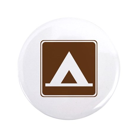"""Camping Tent Sign 3.5"""" Button (100 pack)"""