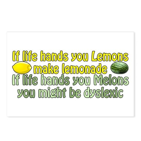 Melons of Dyslexia Postcards (Package of 8)