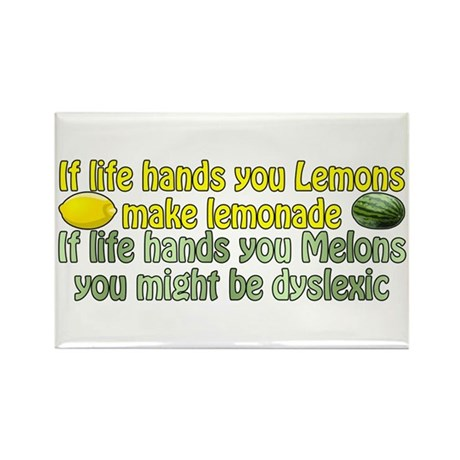 Melons of Dyslexia Rectangle Magnet (100 pack)