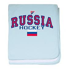 RU Russia/Rossiya Hockey baby blanket