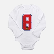 RU Russia/Rossiya Hockey8 Long Sleeve Infant Bodys