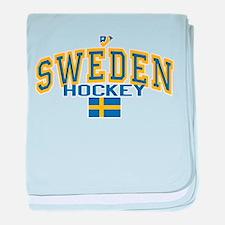 Sweden Hockey/Sverige Ishockey baby blanket