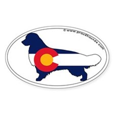 Colorado State Flag Golden Retriever Decal