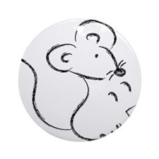 Year of the Mouse Ornament (Round)