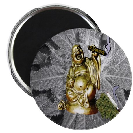 """BUDDHA SMOKING BLUNT 2.25"""" Magnet (10 pack)"""
