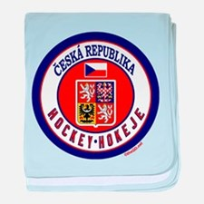 CZ Czech Rep Ice Hockey baby blanket