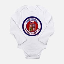 CZ Czech Rep Ice Hockey Long Sleeve Infant Bodysui