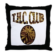 T.H.C. CLUB Throw Pillow