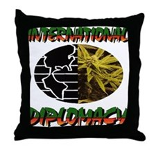 INTERNATIONAL DIPLOMACY Throw Pillow