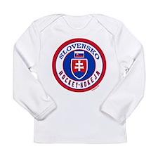 SK Slovakia/Slovensko Hockey Long Sleeve Infant T-