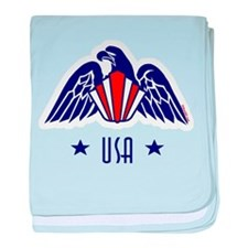 USA Gold Eagle-Art Deco baby blanket