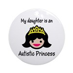 Autistic Princess Ornament (Round)