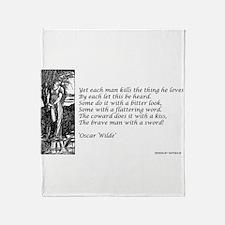 OSCAR WILDE 2 Throw Blanket