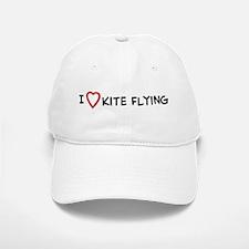 I Love Kite Flying Baseball Baseball Cap